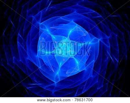 Blue Plasma In Space