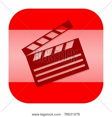 Clapperboard app icon