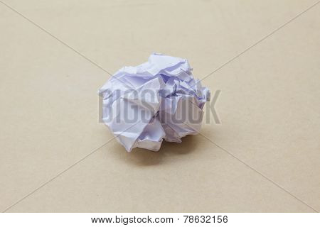 paper crumpled ball close up