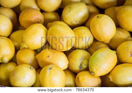 Bunch Of Fresh Lemons