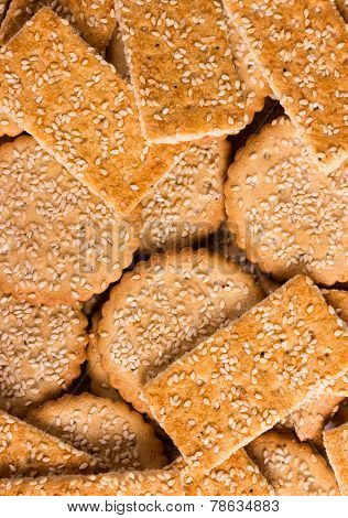 Background Of Crunchy Cookies