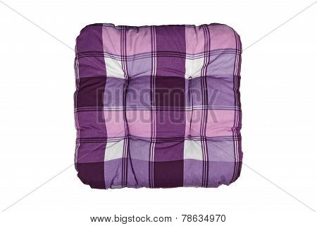 Plaid Purple Cushion