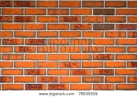 Orange Brick Wall Pattern Texture