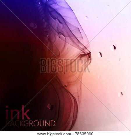 abstract vector background of multicolored fluid ink swirling in