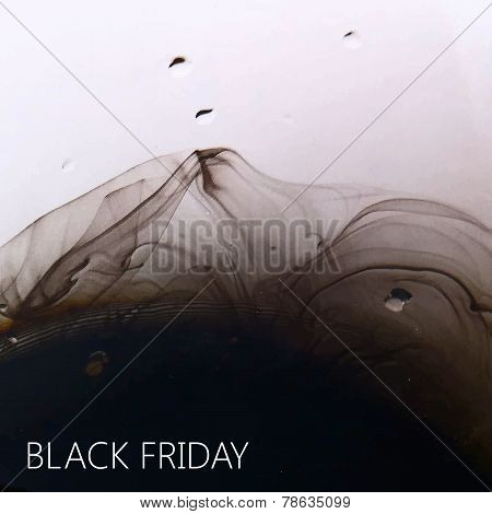 vector abstract fluid ink  background for your design. black fri