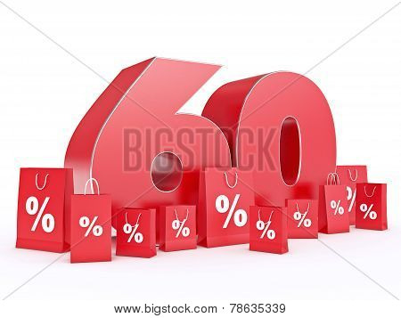 3D rendering of a 60 percent discount