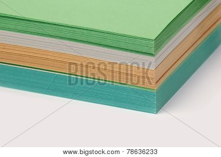 Stack Of Colored Paper For Notes