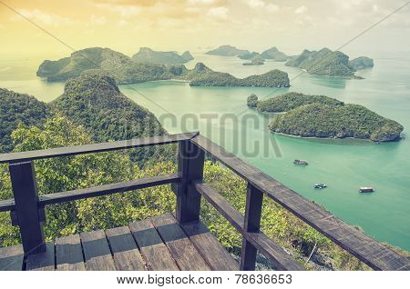 Sunrise at Mu Ko Ang Thong Islands