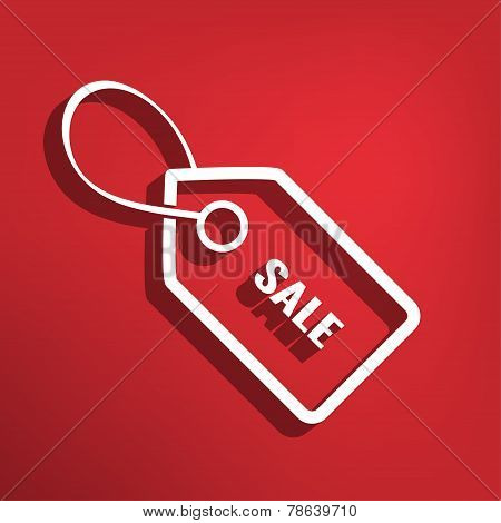 Sale tag flat icon