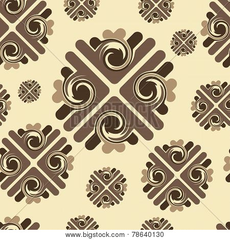 Brown pattern seamless texture