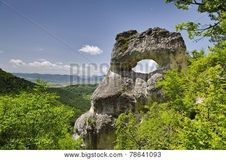 Strange Rock formation near the town of Shumen Bulgaria named