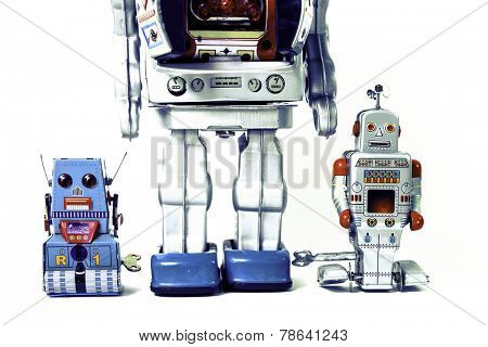 robot family father and sons