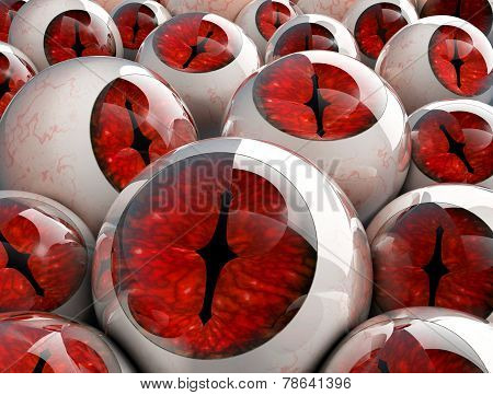 3D Red Eyeballs