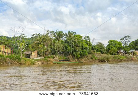 RURRENABAQUE, BOLIVIA, MAY 11, 2014: Offices of Madidi National Park in the upper Amazon river basin in Bolivia