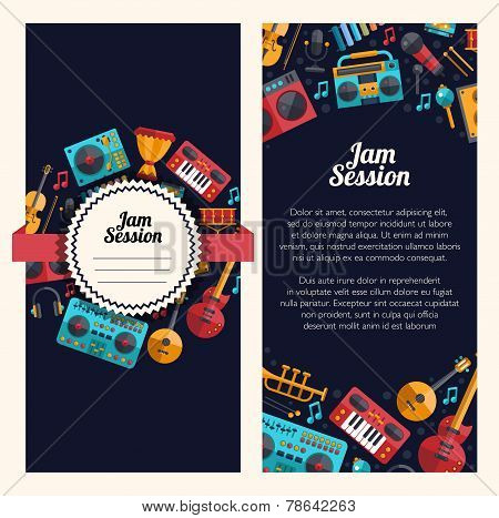 Illustration of modern flat design decorative invitation flyer t