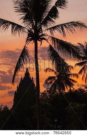 Sunset In Prambanan Temple, Yogjakarta, Indonesia