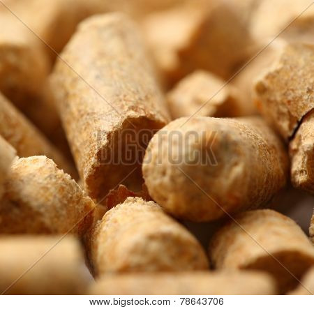 Wooden Pellets Closeup Background