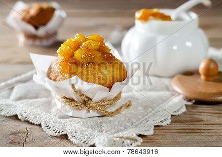 Banana Muffins With Banana Jam