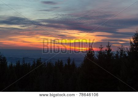 Sunset In The Bavarian Mountains