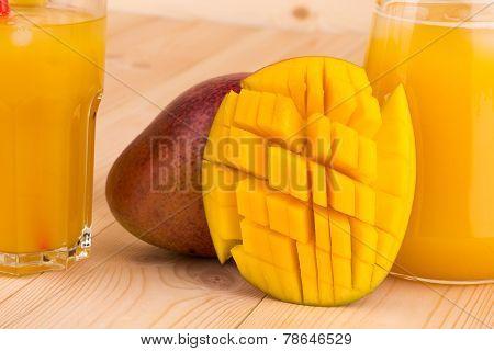 Mango and juice.