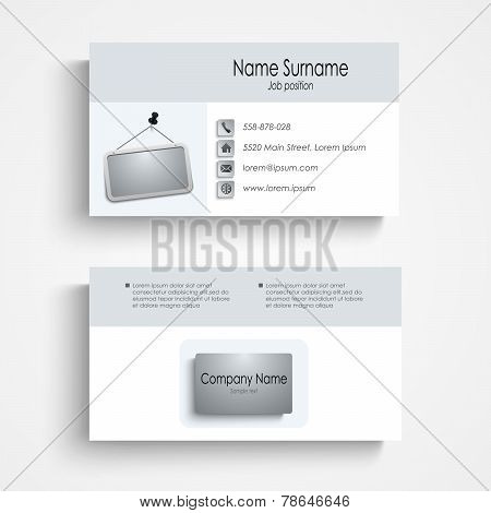 Modern Business Card With A Sign Template