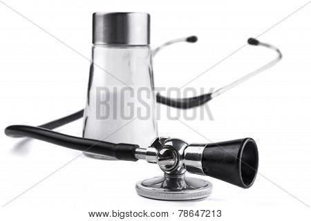 Stethoscope And Salt
