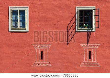 Windows of Cervena Lhota castle, Czech Republic