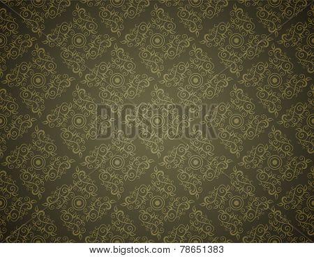 Elegant Seamless Pattern of Floral or Vintage CLassic Vines