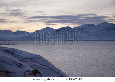 View Of The Area Of The Russian Settlement Barentsburg On Spitsbergen