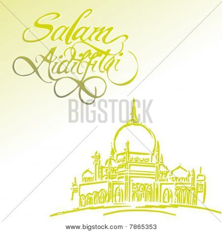 Aidilfitri Greeting Card