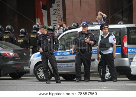 Russian Police During The Opposition Rally