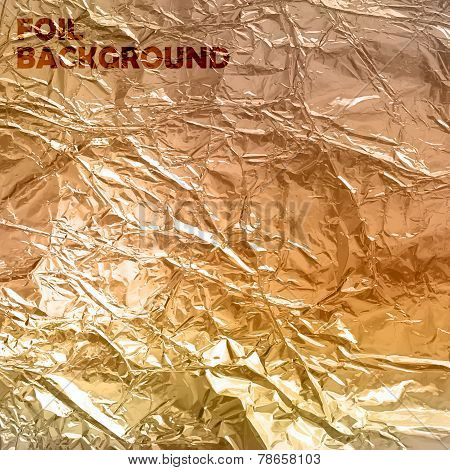 abstract vector background with golden foil texture