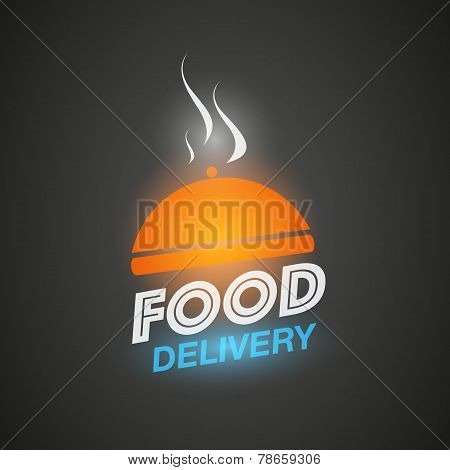 Courier food delivery concept