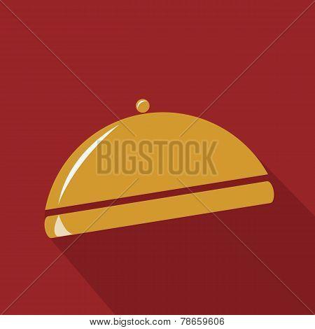Gold restaurant cloche