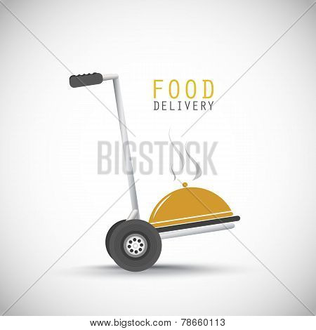 Courier food delivery vector