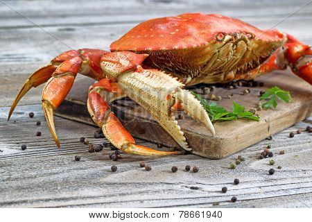 Steamed Crab On Server Board