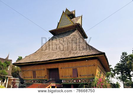 Traditional house on Riau, Sumatra, Indonesia