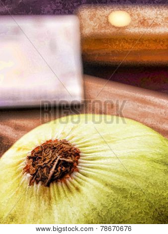 Onion Chopped Means Prepare Food And Cooked