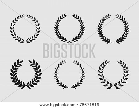 Heraldic ornament on white background.