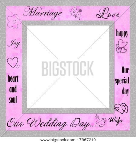 Wedding retro  frame