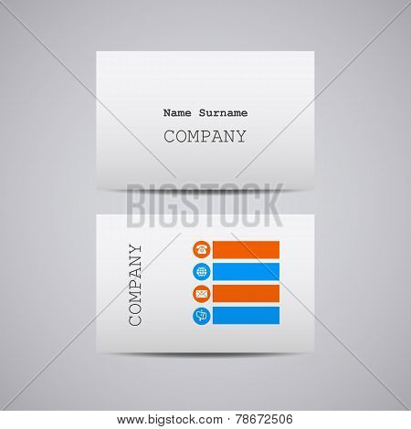 creative white cardboard paper business card