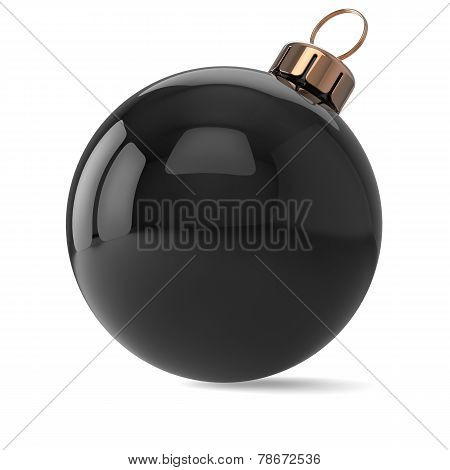New Years Eve Christmas Ball Ornament Black Decoration