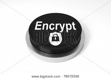 Black Button Encrypt Protection Symbol