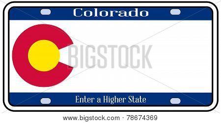 Colorado State License Plate