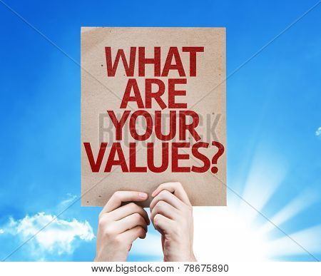 What Are Your Values? card with beautiful day