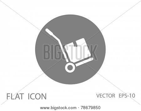 Hand truck icon, vector illustration