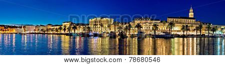 Amazing Split Waterfront Evening Panorama