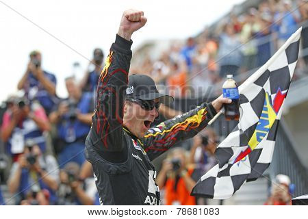 Indianapolis, IN - Jul 27, 2014:  Jeff Gordon (24) wins the CROWN ROYAL PRESENTS, THE JOHN WAYNE WALDING 400 AT THE BRICKYARD at Indianapolis Motor Speedway in Indianapolis, IN.