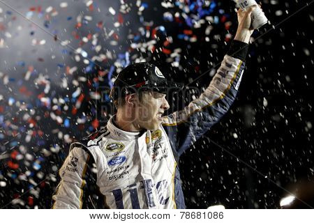 Sparta, KY - Jun 28, 2014:  Brad Keselowski (2) wins the