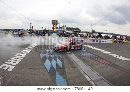 Loudon, NH - Jul 13, 2014:  Brad Keselowski (2) wins the
